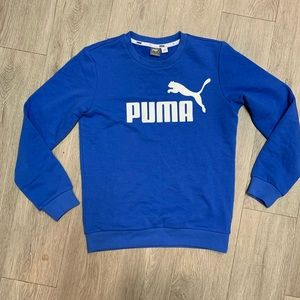 Puma Blue Sweatshirt Pull Over Large